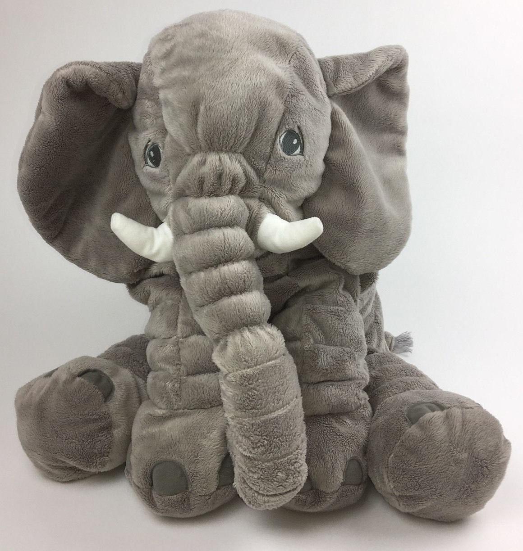 "XXL Plush Animal Elephant Toy Baby Gray 24""L"
