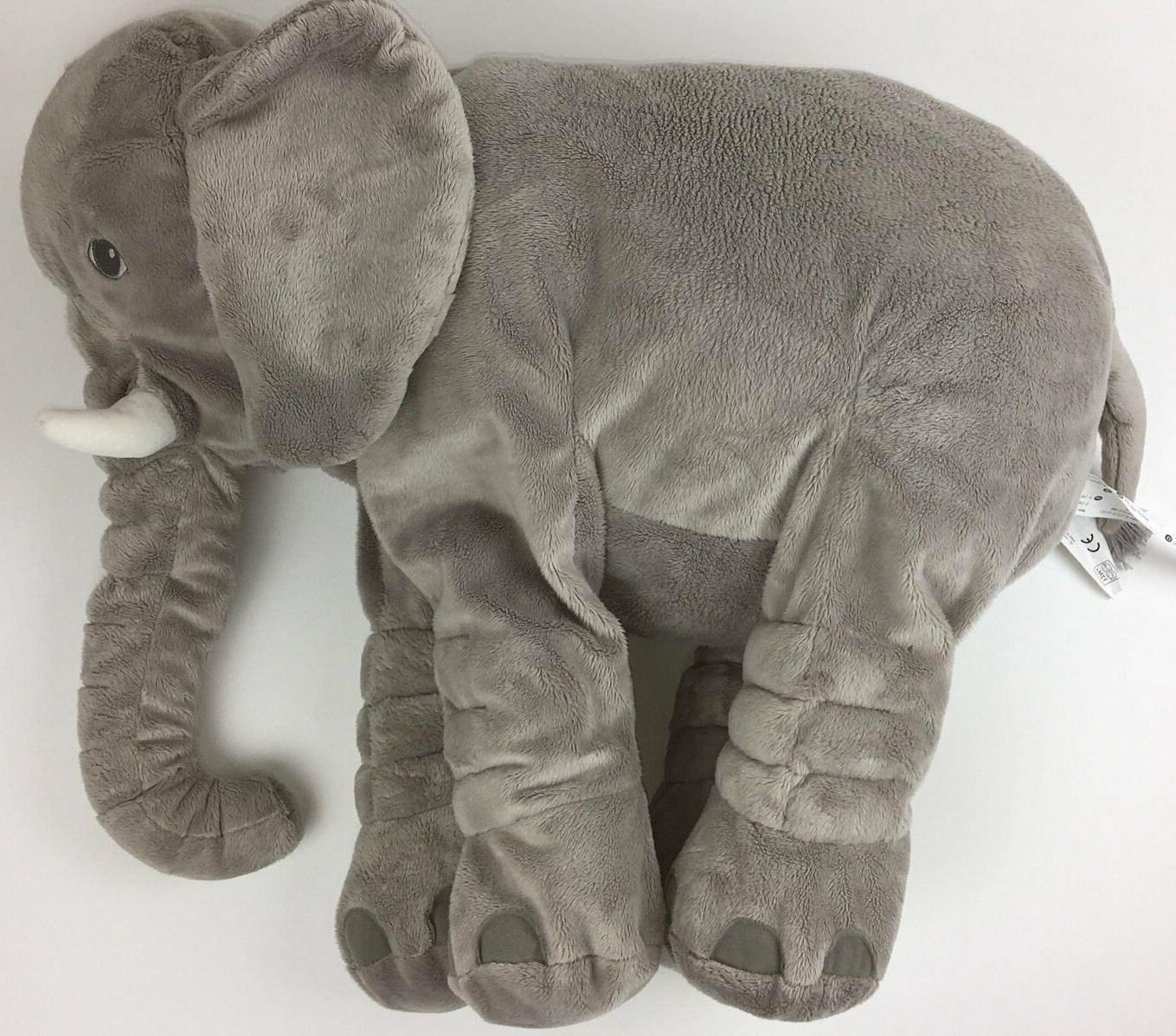 XXL Plush Stuffed Baby Pillow Gray