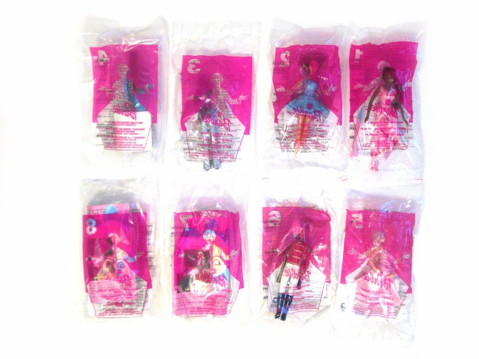 Vintage 2001 McDonald's Barbie Toys - Complete Set of 8 + Du