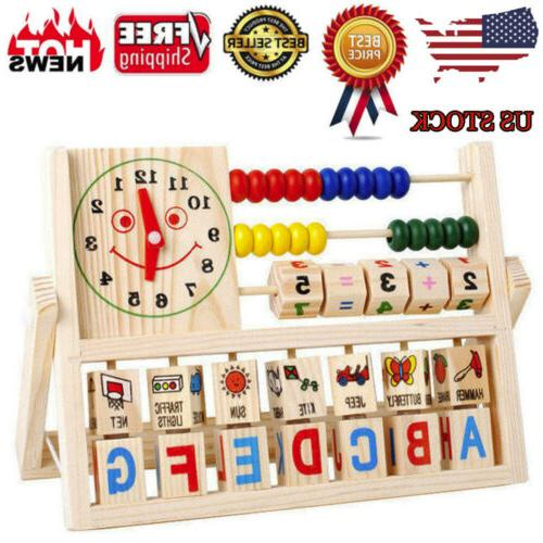 wooden abacus learning early educational development toys