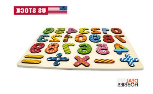 Wooden Puzzle Toddlers Early Learning 1 2
