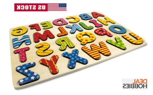 Wooden Alphabet Number Puzzle For Early 2 Age
