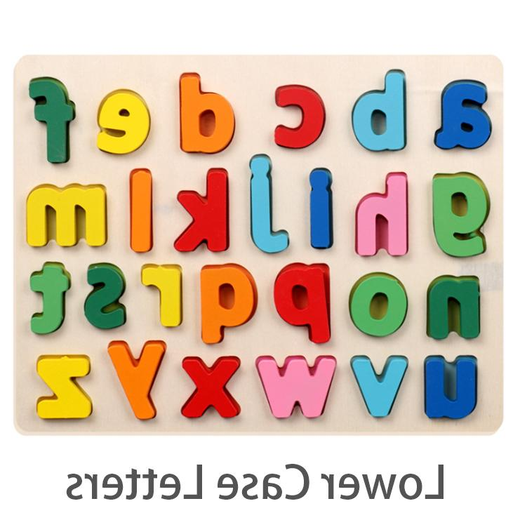 Wooden Alphabet Board Toddler Learning Toys