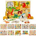 Wooden Animal Letter Puzzle Jigsaw Early Learning Baby Kids