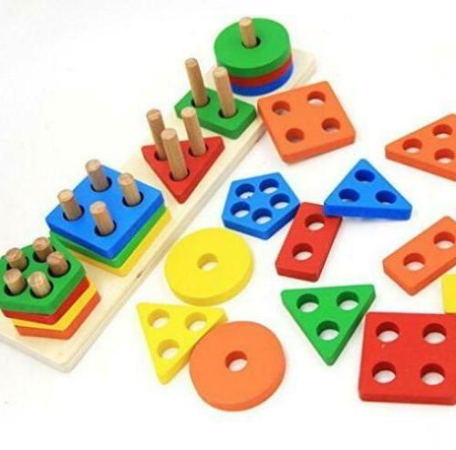 wooden educational preschool toddler toys