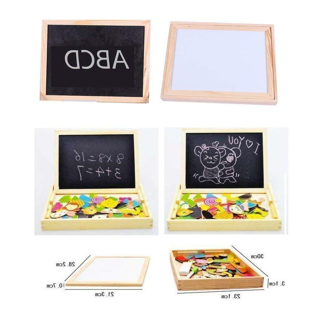 Wooden Games Toddler Sided Drawing