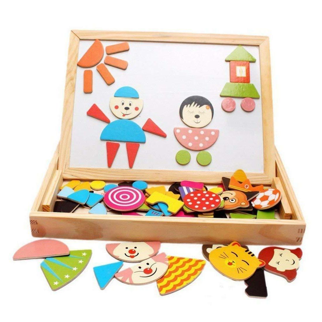 wooden magnetic jigsaw puzzles games toddler toys