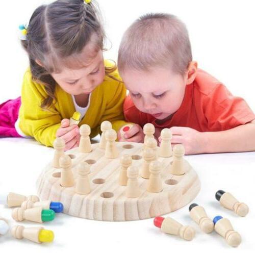 Wooden Match Stick Chess Children