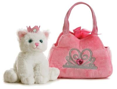 Aurora World Fancy Pals Plush Princess Kitten Purse Pet Carr