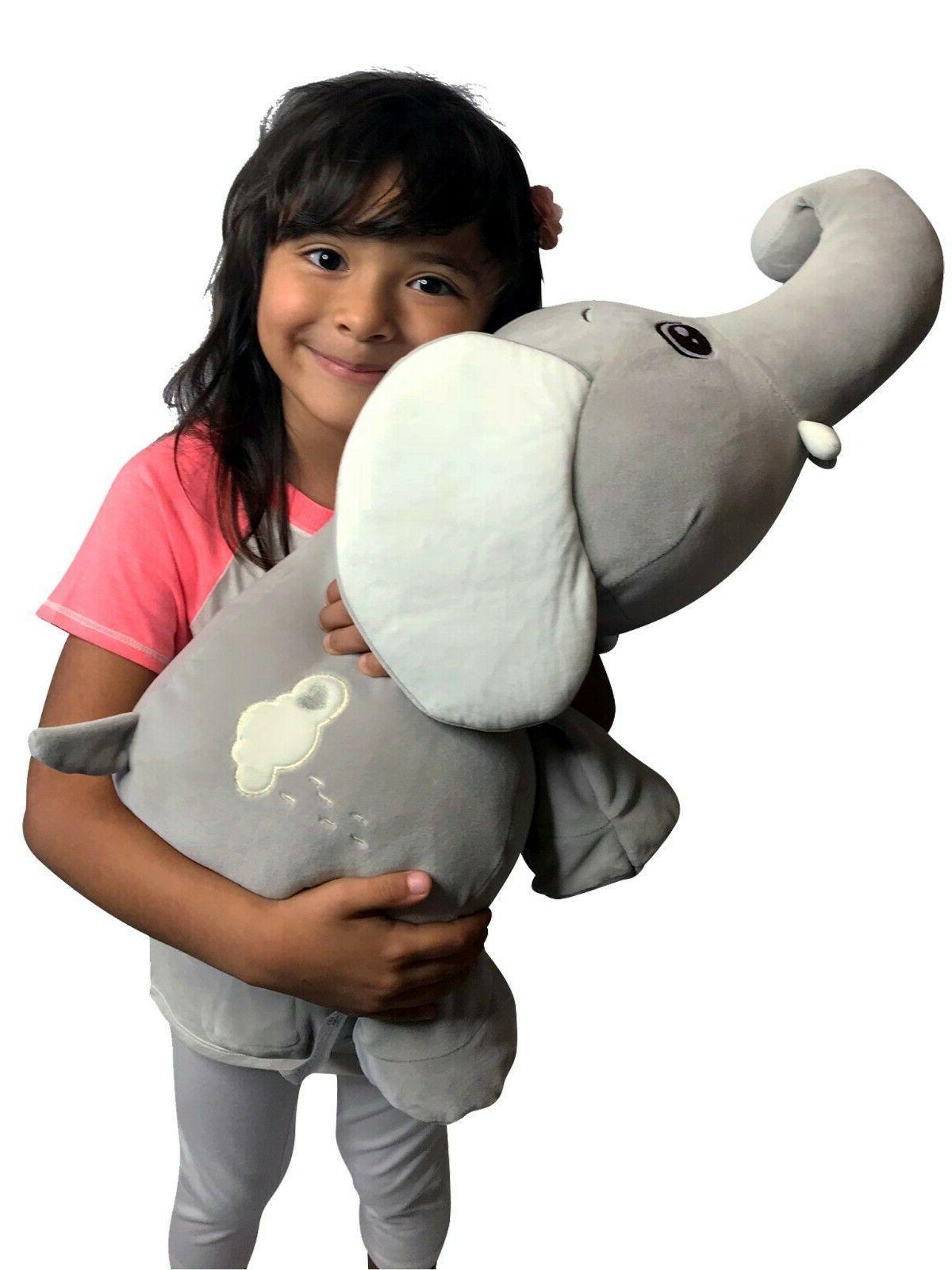 large stuffed elephant animal plush soft toy