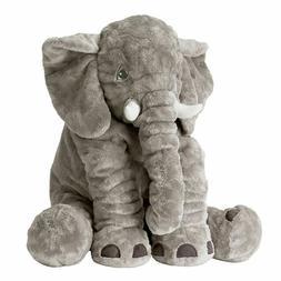 Large Elephant Pillow Soft Plush Stuff Toys Lumbar Doll Cush