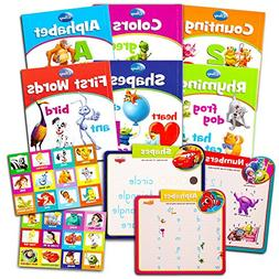 Disney Learning Books Set for Toddlers Kids -- 6 Educational