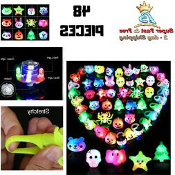 LED Finger Lights Glow in The Dark Party Supplies Kids Flash