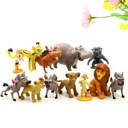 Lion King Movie Plastic Assorted 12 pcs Figures Set Cake Top
