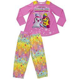 Hatchimals Girls' Little 2-pc Pajama Set, Long Sleeve W/Pant