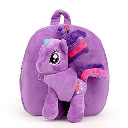 My Little Pony Plush Toddler Backpack for Girls with Leash S