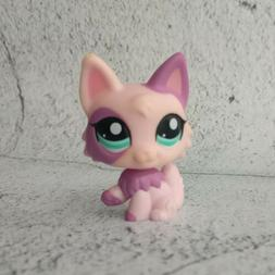 Littlest Pet Shop LPS #2100 Toy Hasbro Pink Fox With Green E