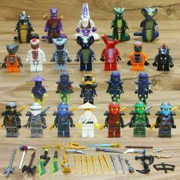Lot/24Pcs Ninjago Ninja Movie Lloyd Garmadon Cole Minifigure