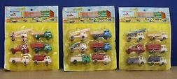 Lot of 3 Carded Plastic Construction Sets  NOS Sealed 60s Ho