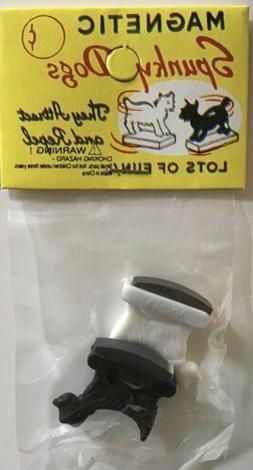 Magnetic Spunky Dogs Scottie Dog Plastic Miniature Vintage T