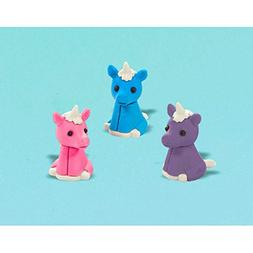 Amscan Majestic Unicorn Erasers Kiddie