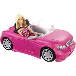 Mattel Barbie Doll and Glam Convertible Car