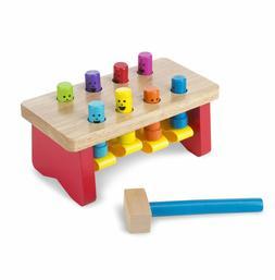 Melissa & Doug Deluxe Pounding Bench Toddler Toy #4490 Brand