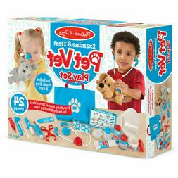 Melissa & Doug Examine & Treat Pet Vet Play Set -