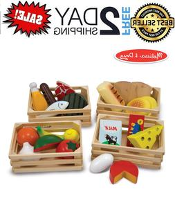 Melissa & Doug Food Groups - Wooden Play Food (Pretend Play,