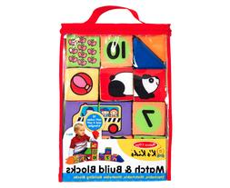 Melissa & Doug K's Kids Match and Build Soft Blocks Set  #D3