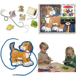 Melissa & Doug Lace & Trace Pets 5 Wooden Panels& 5 Matching