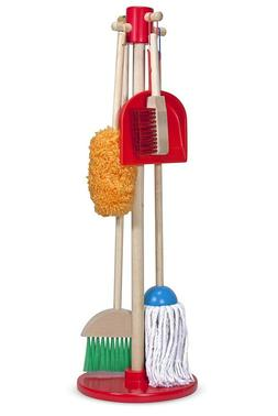 Melissa & Doug Let's Play House! Dust, Sweep & Mop 6 Pc Set