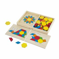 Melissa & Doug Pattern Blocks and Boards - Classic Toy