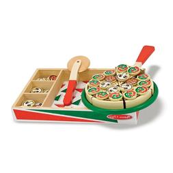 Melissa & Doug Pizza Party Wooden Play Food Set With 54 Topp