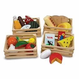 Melissa Doug Food Groups - Wooden Play Food, Pretend Play, 2