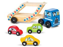 Melissa & Doug Mickey Mouse Car Carrier Truck and Cars Woode