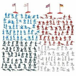 200-Piece Military Figures Set - Toy Soldiers Army in 4 Colo