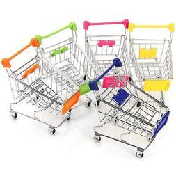 Mini Supermarket Hand Trolley Mini Shopping Cart Desktop <fo