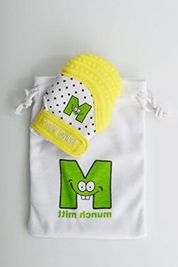 Baby Mini Teething Mitten Yellow Infant/Preemie Size by Munc