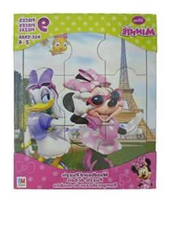 Disney Minnie Mouse 9 Piece Woodboard Puzzle