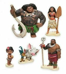 Moana 5 pc Cake Topper Action Figure Doll Toy Playset, Birth