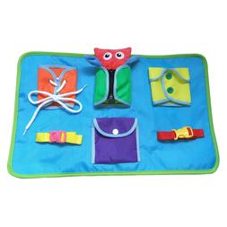 Montessori Early Learning Basic Life Skills Buckle Snap zip