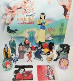 Disney Mulan Movie Figure Set of 14 Toy Kit with 10 Figures,