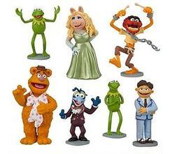 Muppets Kermit Ms Piggy Playset 7 Figure Cake Topper * USA S