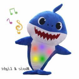 Music Sound Adorable Cartoon Shark Soft Toys Singing Interac