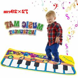Musical Music Kid Piano Play Baby Mat Animal Educational Sof