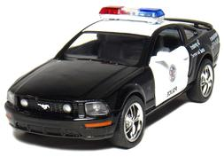 "New 5"" Kinsmart 2006 Ford Mustang GT Police Car Diecast Mode"