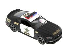 "New 5"" Kinsmart 2015 Ford Mustang GT Police Car 1:38 Diecast"