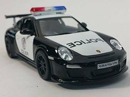 """New 5"""" Kinsmart Diecast Porsche 911 GT3 RS Police Car Diecas"""