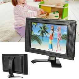 New LCD TV Doll Toy Structures Accessories For Doll House Fu